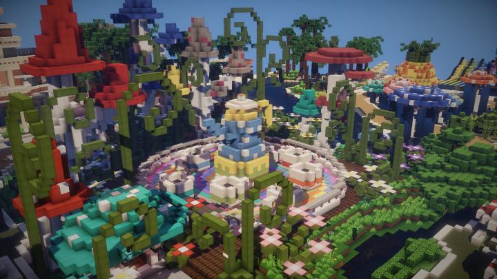 LinsCraft, Amusement Park, MineCraft
