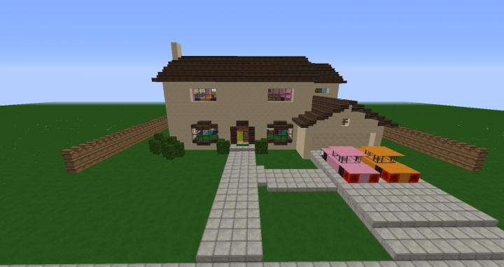 The Simpsons House Minecraft Project