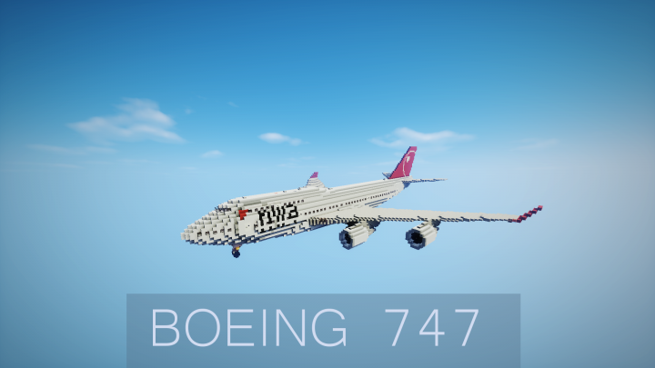 Boeing 747 400 Minecraft Project