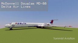 McDonnell Douglas MD-88 Delta Airlines [+Download] Minecraft Map & Project