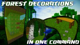 Forest Decorations In One Command | YT/Kuzkay Minecraft Map & Project