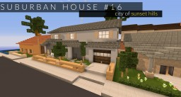 House #16 // city of sunset hills Minecraft Project