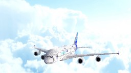 3:1 scale Airbus A380 Minecraft