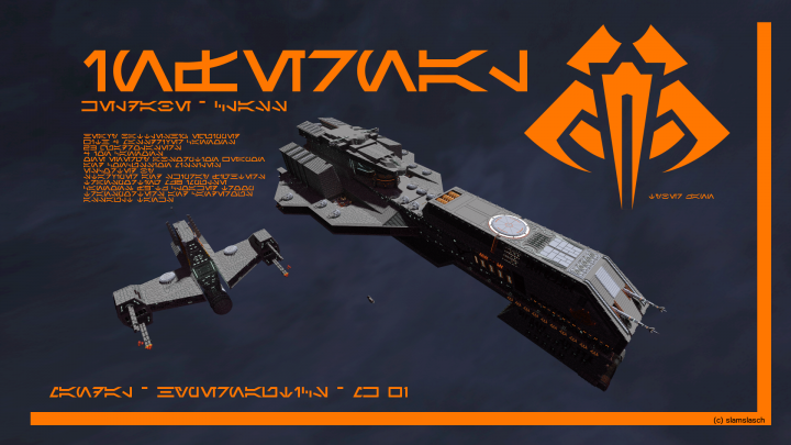 Escorted by a Vengeance Frigate and a Skipray Fighter - check my other projects