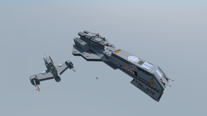 Look at my other builds for the download of the Vengeance frigate