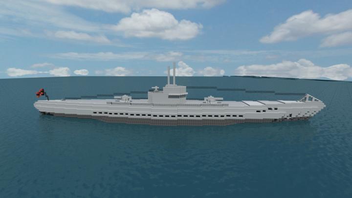 german type ix submarine minecraft project