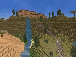 roman fort with village Minecraft Map & Project