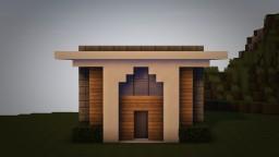 Small Modern House (w/ Custom Made Island) Minecraft Map & Project