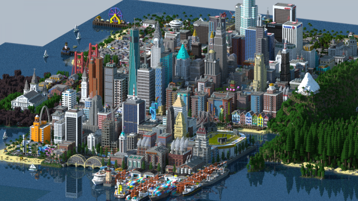 Render of the city
