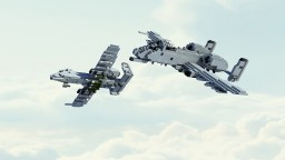 3:1 scale A-10  thunderbolt Minecraft