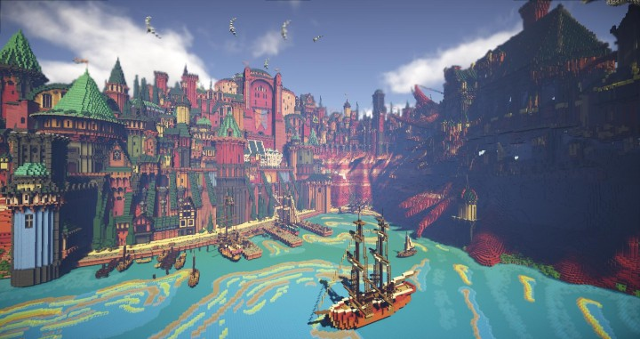 The harbor, ingame