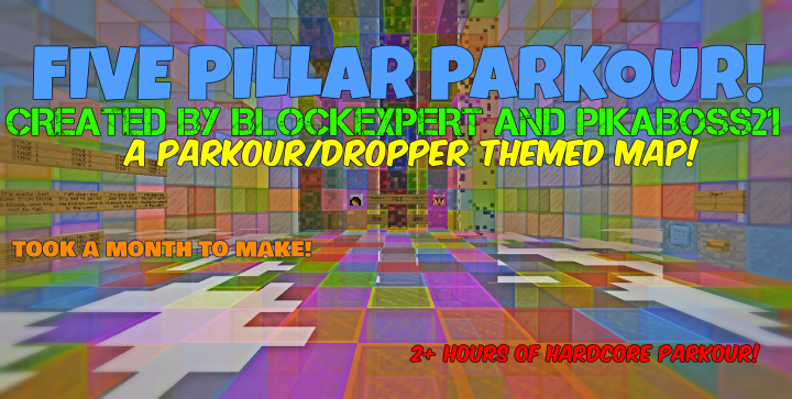 5 PILLAR PARKOUR! V1.4 (A parkour and dropper map) 1.10! Minecraft on