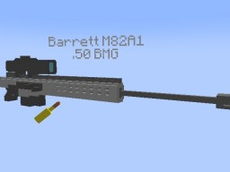 Barrett M82A1 Rig+.50 BMG Bullet Minecraft Map & Project