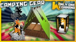 Camping Gear with only one command block Minecraft Project