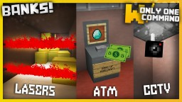 BANKS with only one command block - ATMs, Security Cameras & Lasers!