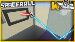Spaceball with only one command block! - New way to play football! Minecraft Project