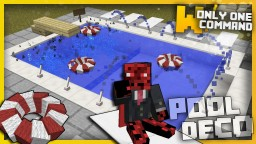 Swimming Pool Decorations with only one command block Minecraft Project