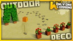 Outdoor Decorations with only one command block (Summer Edition) Minecraft Map & Project
