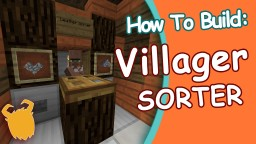 HOW ! EASY Villagers Sorter! (WORKS IN SKYBLOCK!) -1.10 Minecraft Blog Post