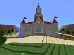 Complete and accurate Peach's Castle from Super Mario 64 Minecraft Project