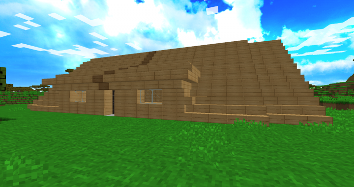 Maison moderne courb es minecraft project for Minecraft maison moderne