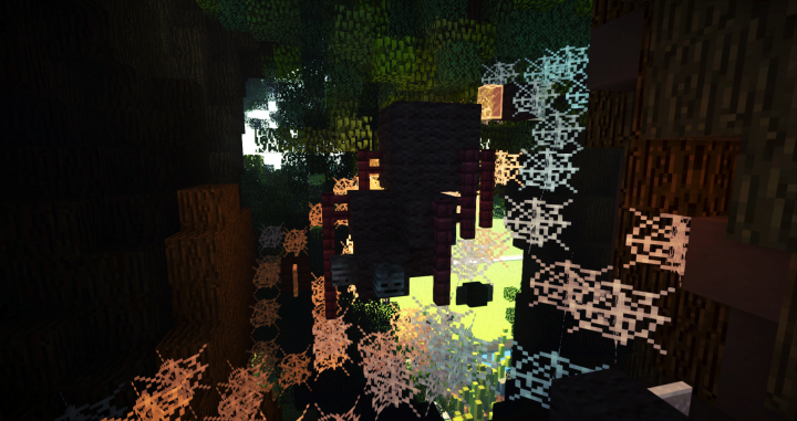 Screenshot 7  spider in a cobweb with some flys