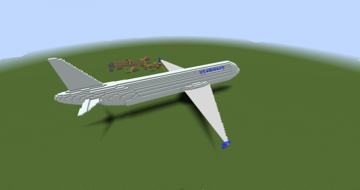 A320 airplane model - Tinkercad Minecraft Project