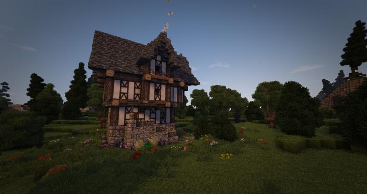 Maison Médiévale Minecraft Project