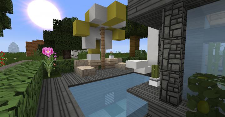It has a pool!