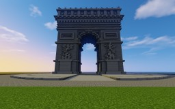 The Arc de Triomphe in Paris Minecraft Project