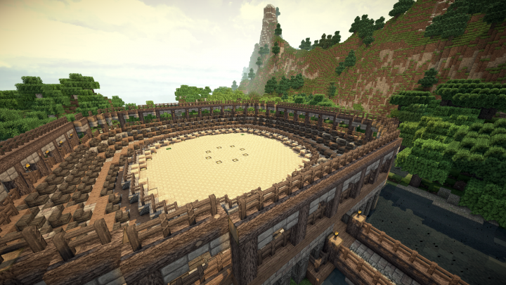 Some addiotional buildings. Here battle arena