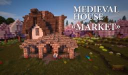 """Medieval house """"Market"""" Minecraft"""