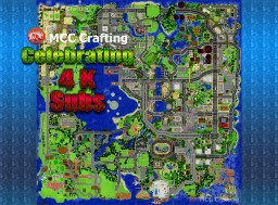 MCC Crafting Celebrating 4K Youtube Subs Full World Map Top Down Birdes Eye View Minecraft Project