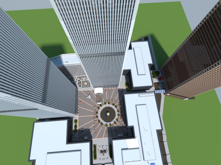 Austin J. Tobin Plaza - Aerial View