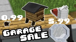 Minecraft Custom Modeling: GARAGE SALE!! (1.10) Minecraft Project