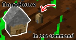 Nano House in one command! [War with TheRedEngineer] Minecraft Map & Project