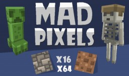 Mad Pixels for 1.12.2 [ x16 and x64 ] Minecraft