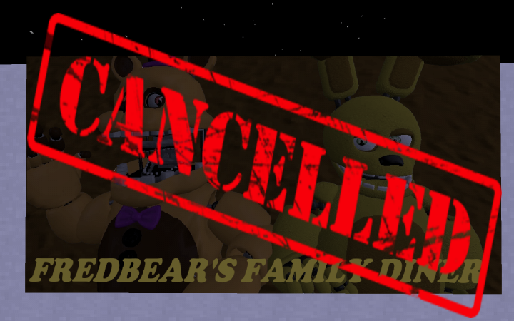 Cancelletto Minecraft : These fine nights at fredbear cancelled minecraft project