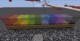 Bedrock Bottom Sky Rainbow Parkour - 100 levels to beat! 1.10