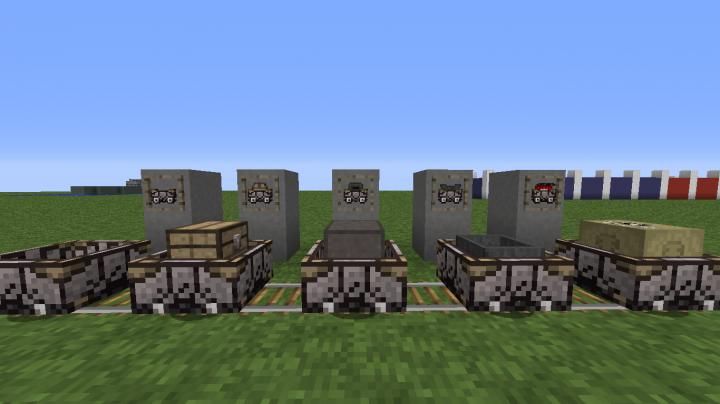 Closer look at minecart variants