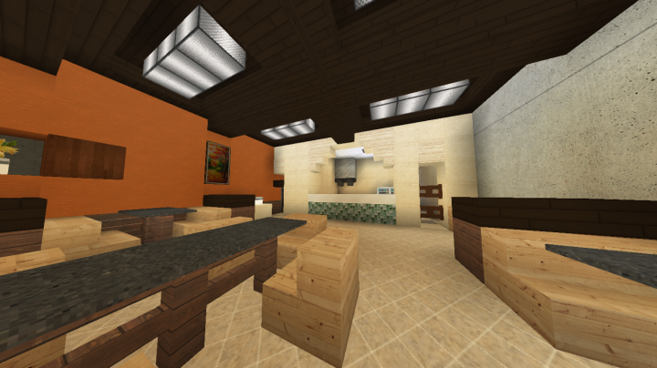 Restaurant interior ecs minecraft project