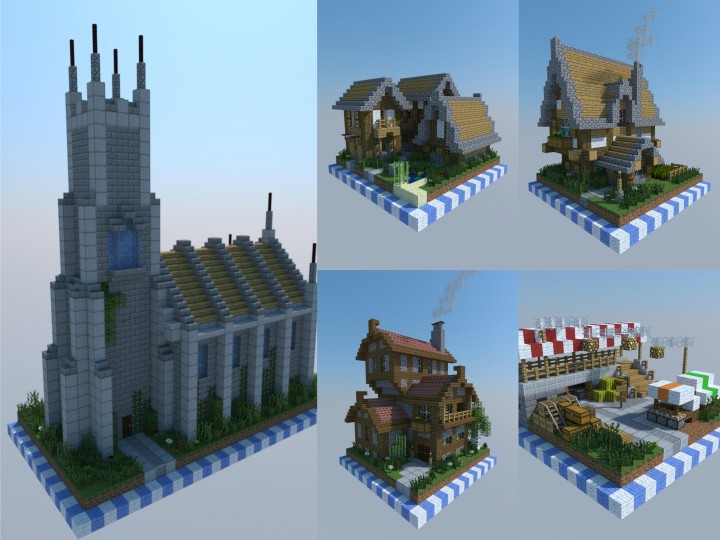 Chunk Buildings Medieval Set Minecraft Map