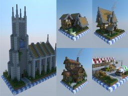 Chunk Buildings - Medieval Set Minecraft