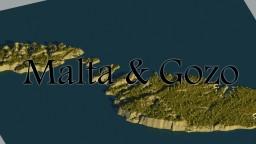 Malta & Gozo -Realistic Terrain- Minecraft Project