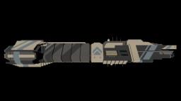 Barra-Class Cosmic Freighter IC-43 Minecraft Project