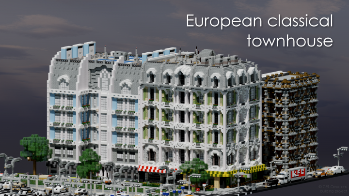 European Classical Townhouse Crt Minecraft Project