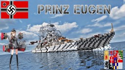 German cruiser Prinz Eugen Minecraft