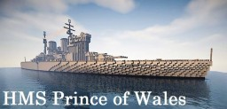 HMS Prince of Wales Minecraft Project
