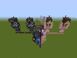 PopularMMOs and GamingWithJen Burning Map Minecraft Map & Project