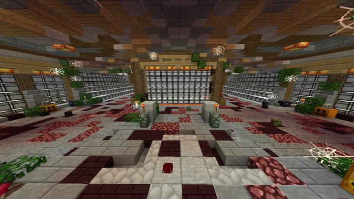Minecraft Factions Base Design 48x48 4 Diamonds